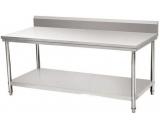 不锈钢拆装式围板靠背双层工作台
